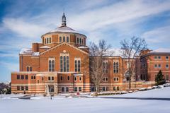 Winter view of the National Shrine of Saint Elizabeth Ann Seton in Emmitsburg Stock Photos