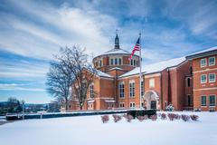 Winter view of the National Shrine of Saint Elizabeth Ann Seton in Emmitsburg Stock Photos