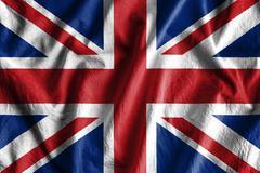 Waving flag of England Stock Photos