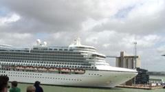 Emerald Princess cruise liner Stock Footage