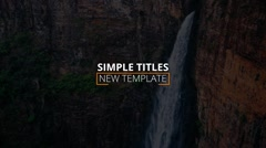 Simple titles Stock After Effects