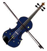 Alaska State Fiddle Stock Illustration