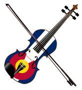 Colorado Fiddle Stock Illustration