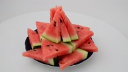 Shooting of a dish from a watermelon. Stock Footage