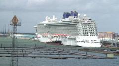 Britannia cruise liner Stock Footage