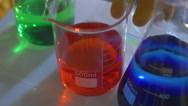 4k chemical flask lab laboratory Stock Footage