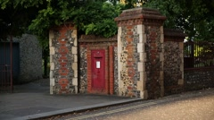 Traditional English post box Stock Footage
