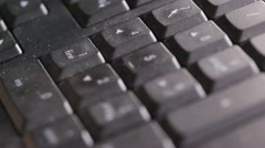 Finger tiping a code in keyboard Stock Footage