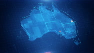 Australia Map Graphical  4K Stock Footage