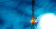 Communications tower antenna Stock Footage