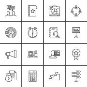 Set Of Project Management Icons On Deadline, Creativity, Decision Making And  Stock Illustration