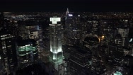Aerial view (4K) of downtown Manhattan, New York, United States. Stock Footage