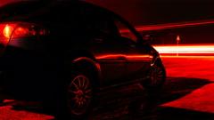 Car parking long exposure Stock Footage