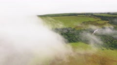 Flying among the clouds in the Kamarata Valley at Uruyen Stock Footage
