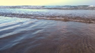 Sea waves on the beach Stock Footage