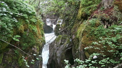 Waterfall at gerlos stream at Gerlostal valley at Zillertal area. Hight t Stock Footage