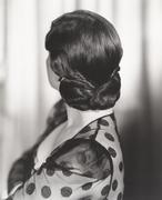 Rear view of woman's 1940s hairstyle Kuvituskuvat