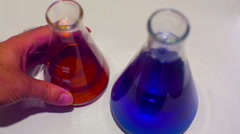 Chemical solutions chemistry Stock Footage