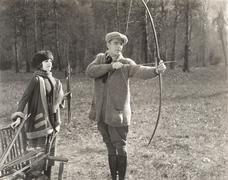 Archery lesson Stock Photos