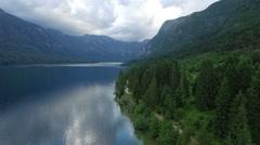 Beautiful Bohinj lake, Julian alps.Slovenia Stock Footage