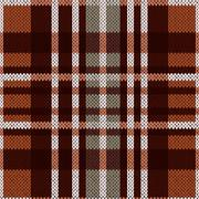 Seamless pattern as a knitted fabric in brown and grey colors Piirros