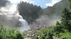 Visiting Krimml waterfalls in Austria. Stock Footage