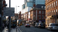 Typical English City Street Stock Footage