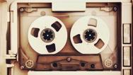 Vintage audio tape compact cassette Stock Footage