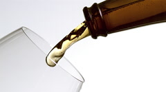 Slow motion shot of pouring beer into glass Stock Footage
