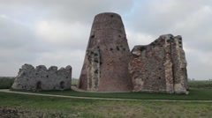 Old mill ruin at St Benets Abbey (2) Stock Footage