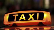 Illuminated Sighn of Taxi Cab 3 Stock Footage