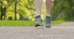 Jogger Tying Loose Shoe Lace Stock Footage