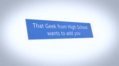 23 Geek wants to add you Stock Footage