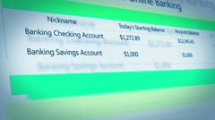 29 Bank Account Interface Stock Footage