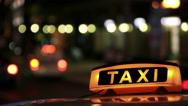 Illuminated Sighn of Taxi Cab 2 Stock Footage