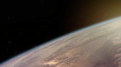 CI000042 Slow Dolly towards Earths atmosphere Stock Footage