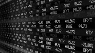 CI000066 Stock Exchange Numbers Black and White Stock Footage