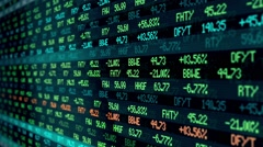 CI000065 Stock Exchange Numbers Stock Footage