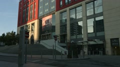 BIRMINGHAM, ENGLAND - 5 SEPTEMBER 2016 - The Mailbox Retail Centre early morning Stock Footage