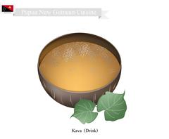 Kava Drink or Traditional Papua New Guinea Herbal Beverage Stock Illustration