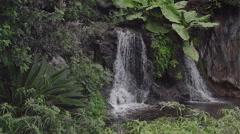 Water Falls with Rocks, Buenavista del Norte, Tenerife Island, Canary Islands Stock Footage