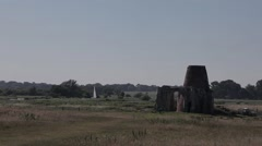 St Benet's Abbey on the Norfolk Broads (1/2) Stock Footage
