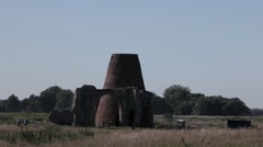 Old mill ruin at St Benet's Abbey Stock Footage