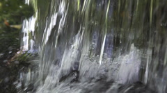 Waterfall near Ribeauville, Alsace in the East of France, Slow Motion Stock Footage