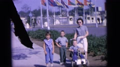 1964: mother with small child is seen CAMDEN, NEW JERSEY Stock Footage