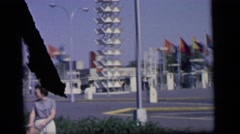 1964: city is seen with tall buildings along coastal area CAMDEN, NEW JERSEY Stock Footage