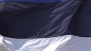 Estonia Flag Waving in the Wind, Slow Motion Stock Footage