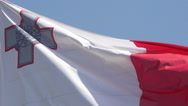 Malta Flag Waving in the Wind, Slow Motion Stock Footage
