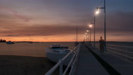 Time Lapse - Sunset/Dusk at a jetty at Rockingham, Western Australia. Stock Footage
