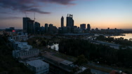 Time Lapse - Sunrise at the City of Perth, Western Australia. Stock Footage